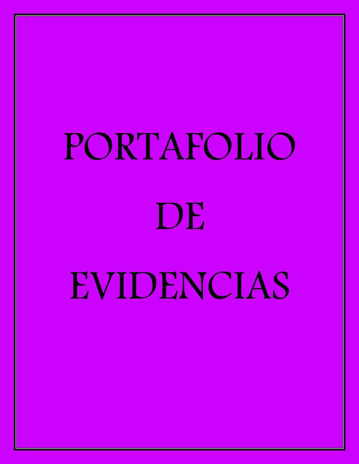 Calaméo - Portafolio De Evidencias