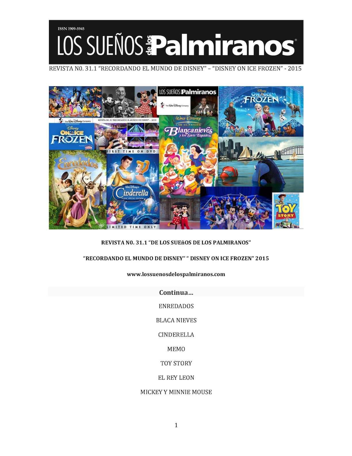 Calaméo - Revista N0 31 1 Recordando El Mundo De Disney Disney On ...