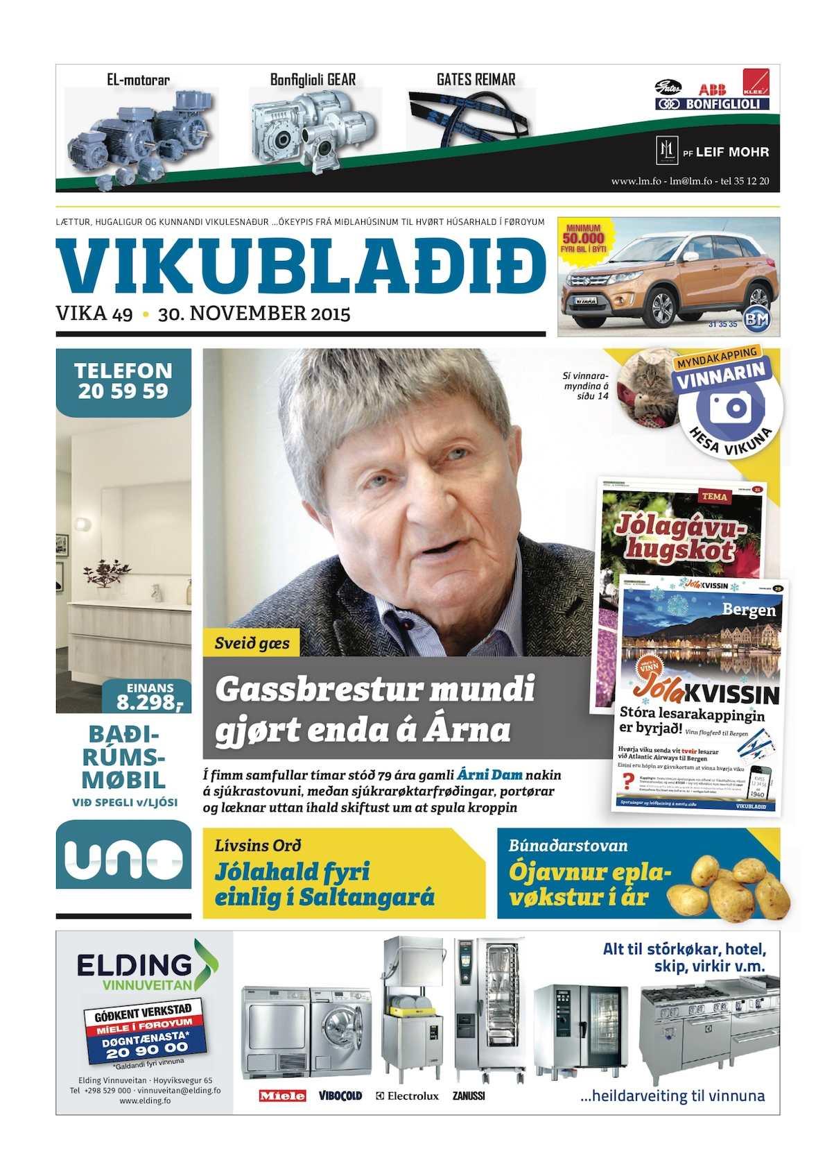 Vikublaðið 30. nov. 2015