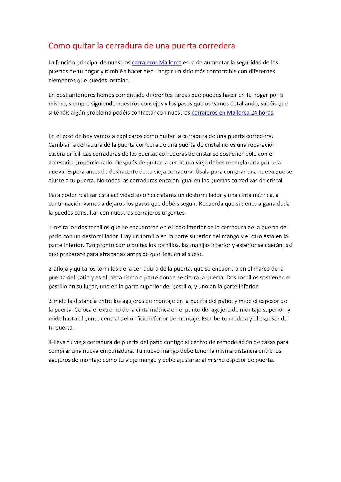 Calaméo - Como Quitar La Cerradura De Una Puerta Corredera