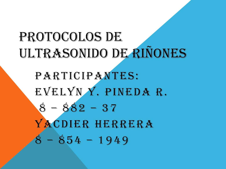 Calaméo - Protocolos De Ultrasonido De Riñones