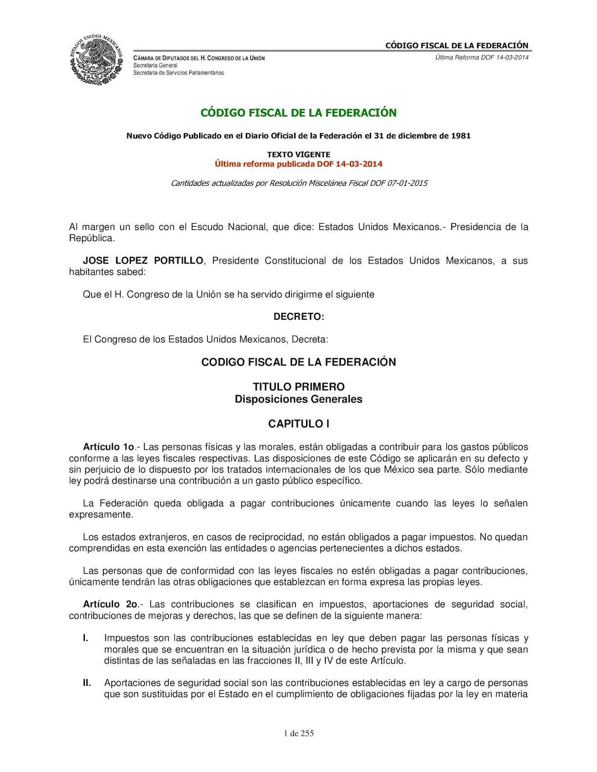 Calaméo - Codigo Fiscal De La Federacion