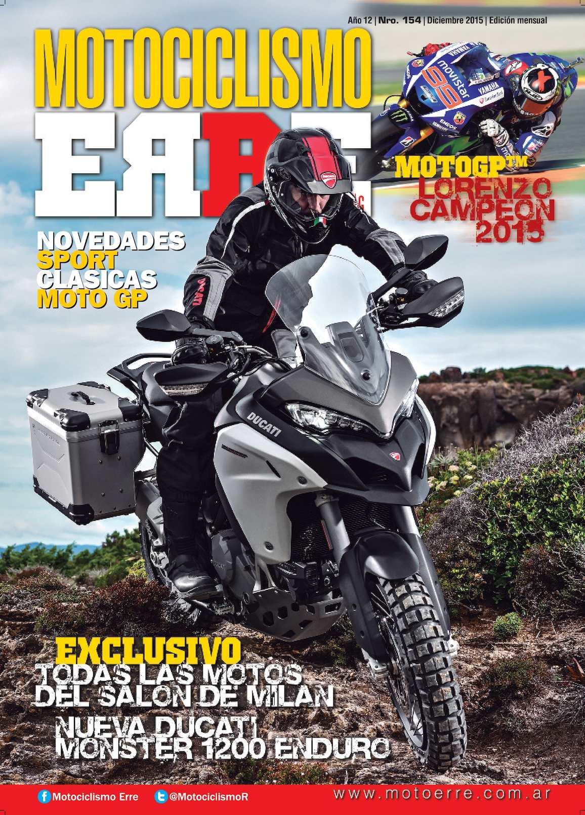 Revista Motociclismo ERRE, edición Nro.154, diciembre 2015