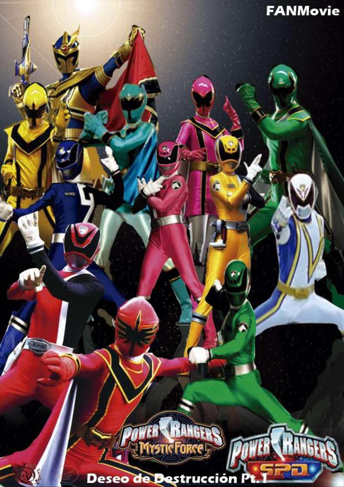 Perfecto La Fuerza Mística De Los Rangers De Potencia Para Colorear ...