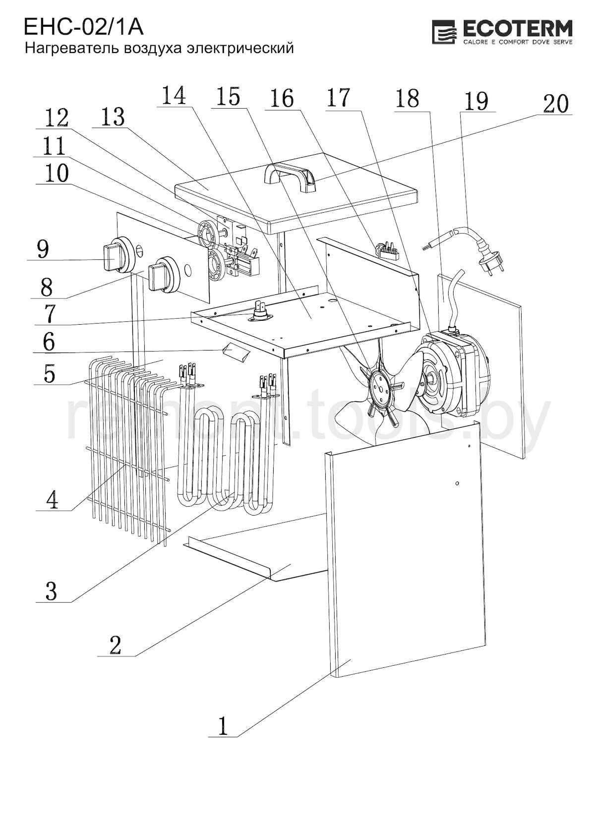 Ecoterm Нагреватель электрический Ehc 02 1a