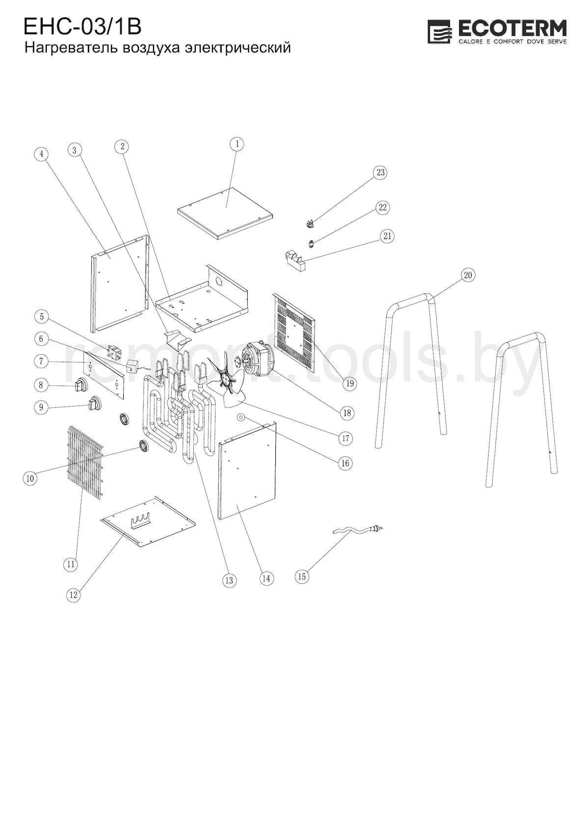 Ecoterm Нагреватель электрический Ehc 03 1b