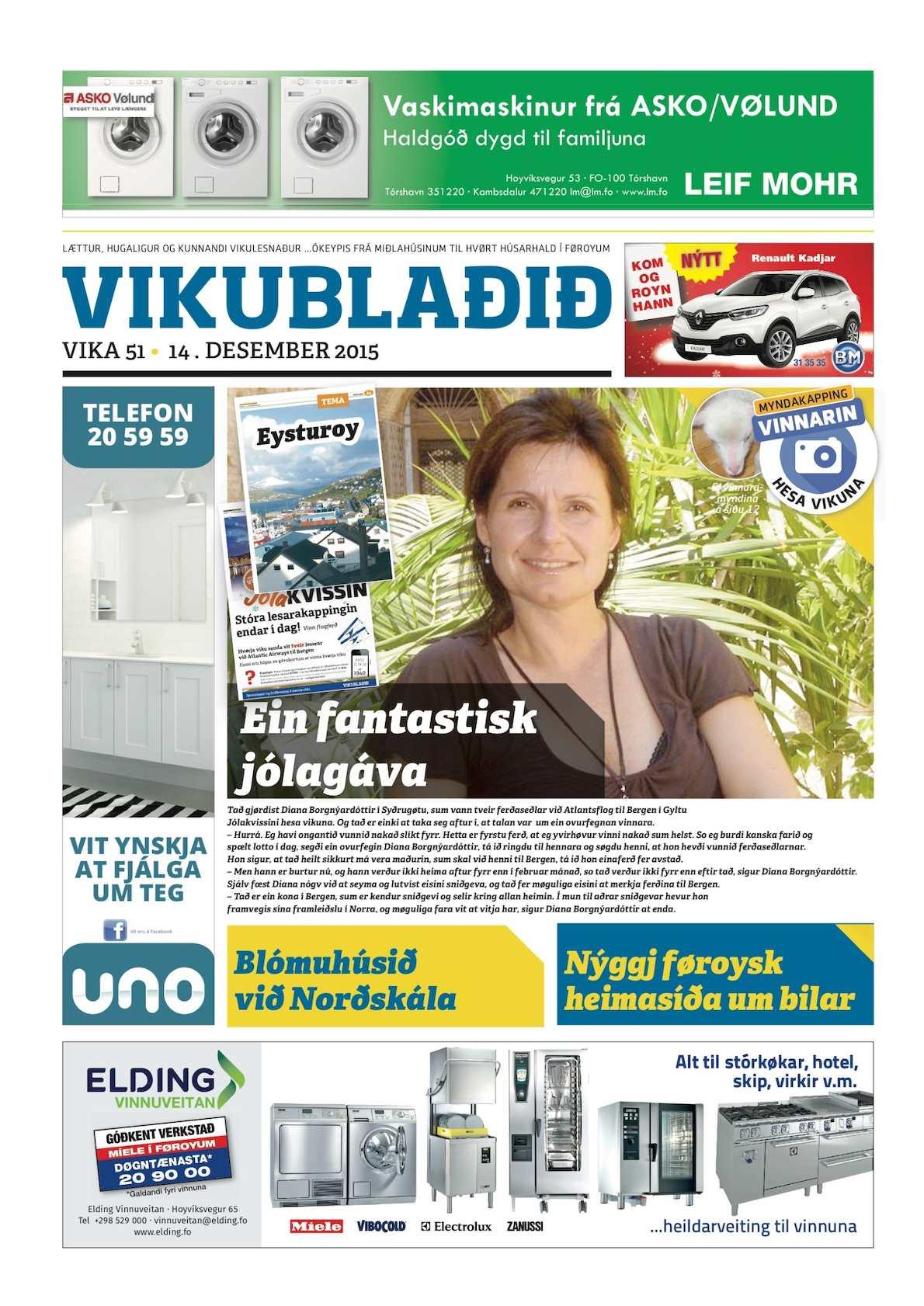 Vikublaðið 14. des. 2015