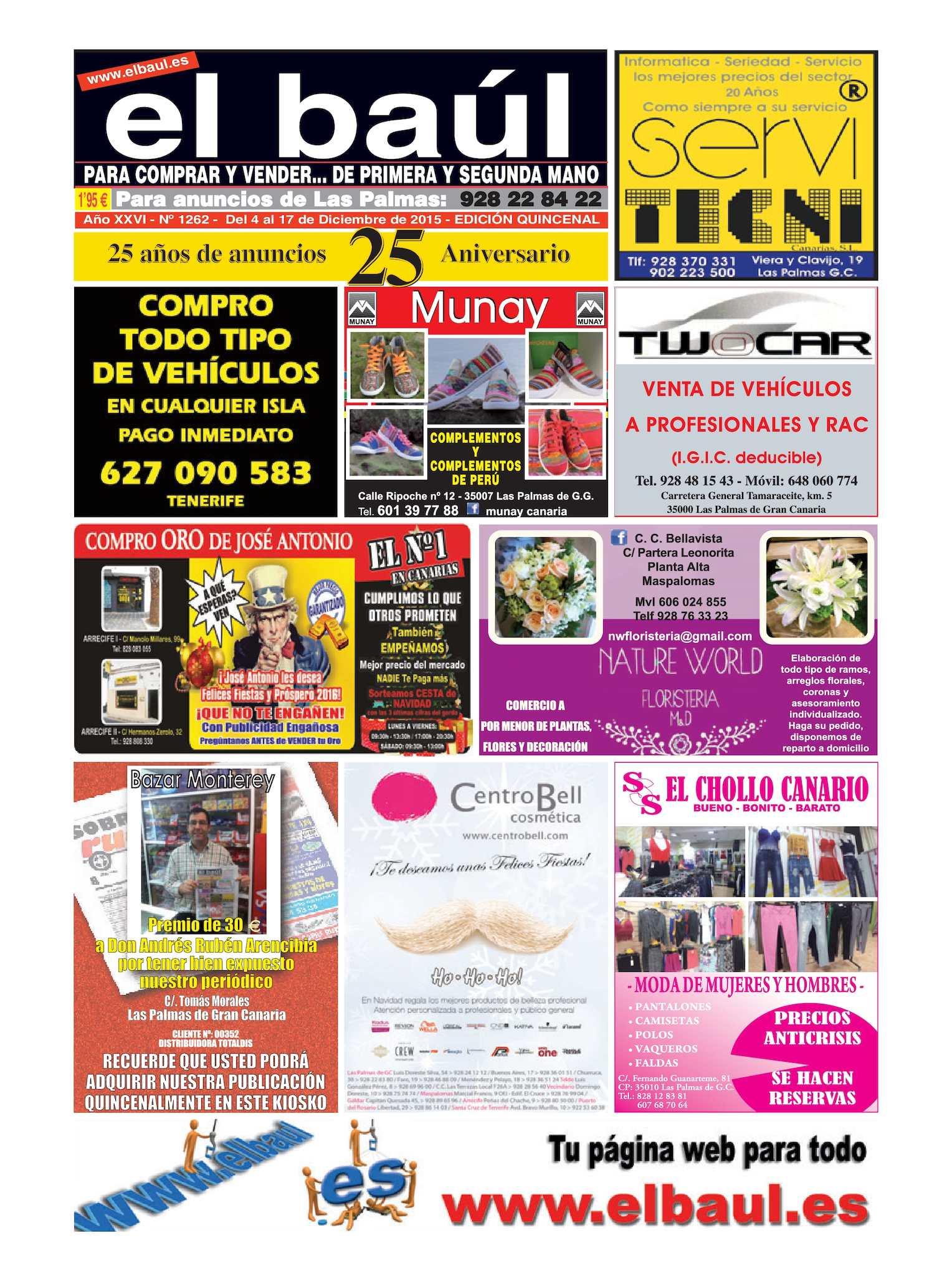 Calaméo - Periódico El Baúl segunda mano edición Las Palmas