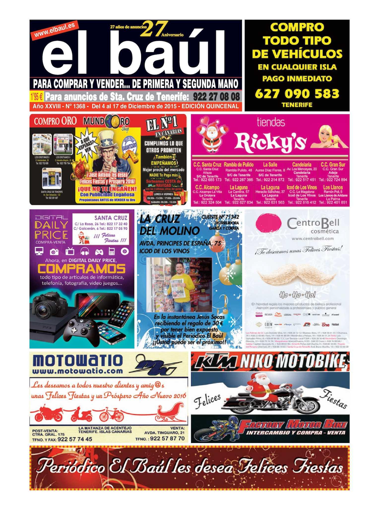 Calaméo - Periódico El Baúl segunda mano edición Tenerife