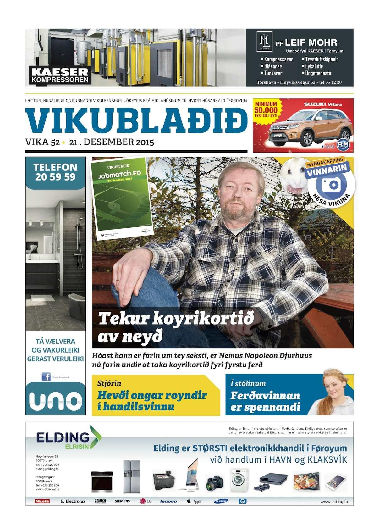 Vikublaðið 21. des. 2015