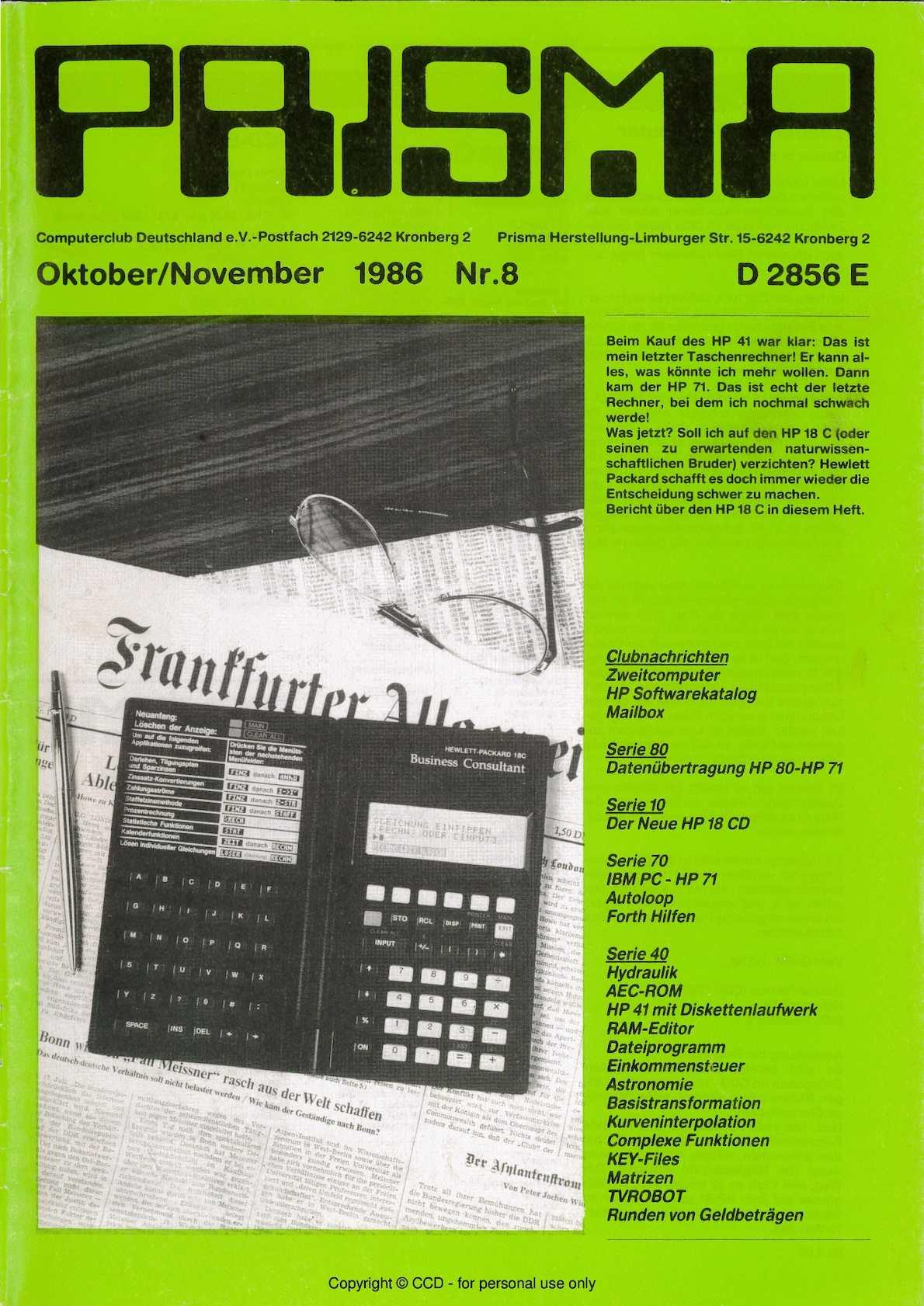 Calaméo - Prisma 1986 Nr 8