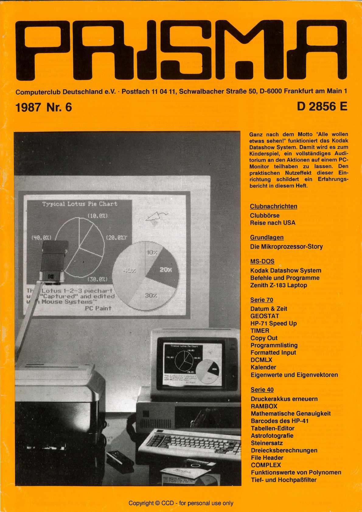 Calaméo - Prisma 1987 Nr 6