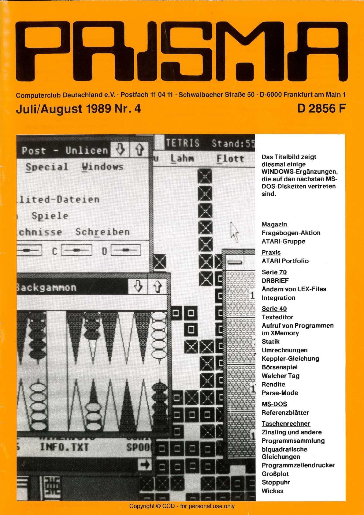 Calaméo - Prisma 1989 Nr 4