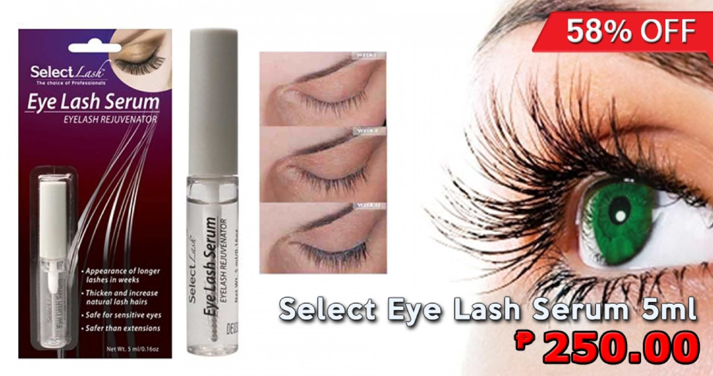 Calamo Select Eye Lash Serum 5ml For Only Php250 Available At