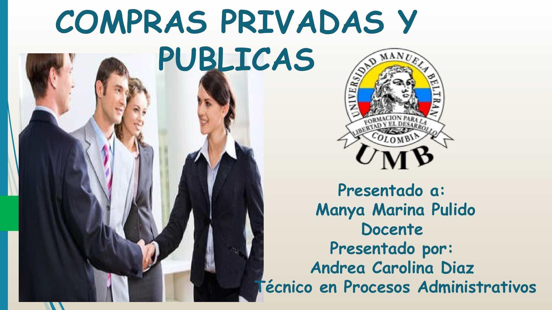 COMPRAS PUBLICAS Y PRIVADAS