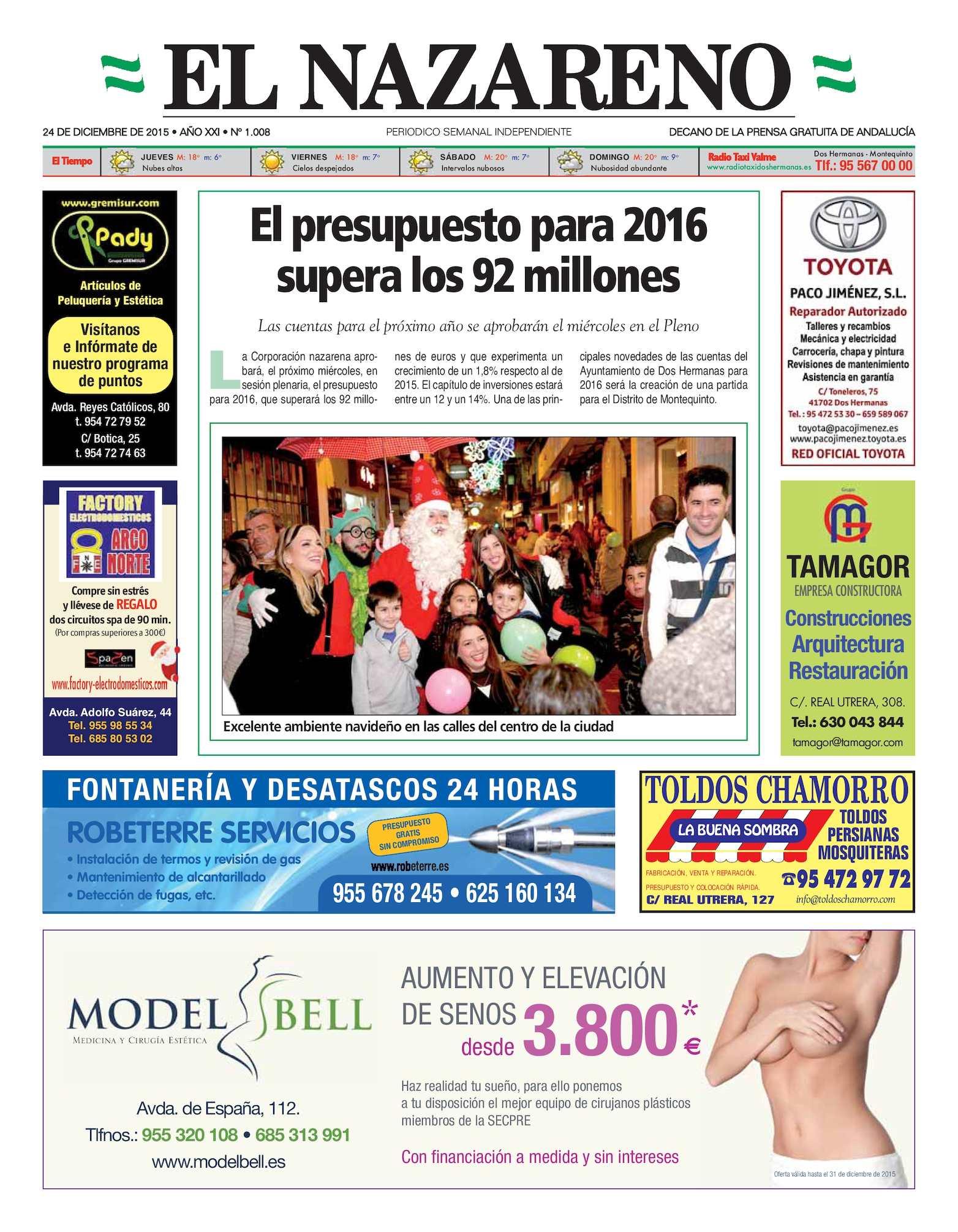 Calaméo - Periódico El Nazareno De Dos Hermanas Nº 1008