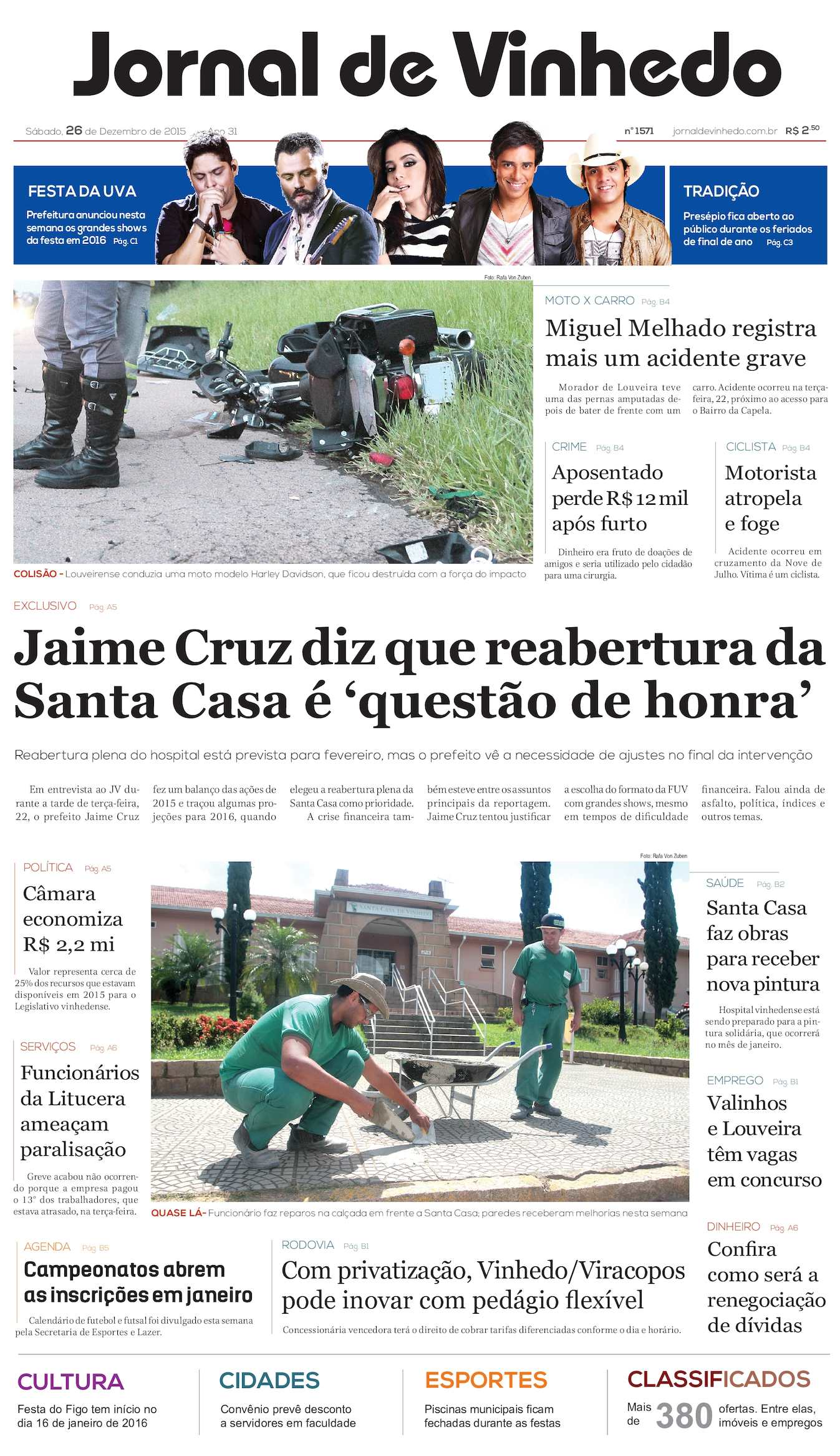 Calaméo - Jornal De Vinhedo Sábado 26 De Dezembro De 2015 Edic 1571 Ok 25404189948dc