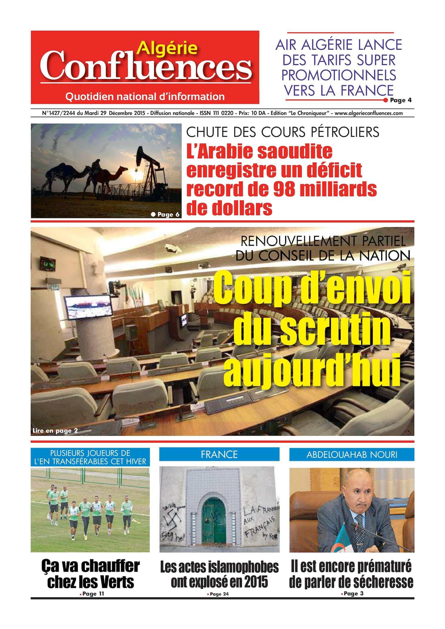 Algerie Confluences 29 Decembre 2015
