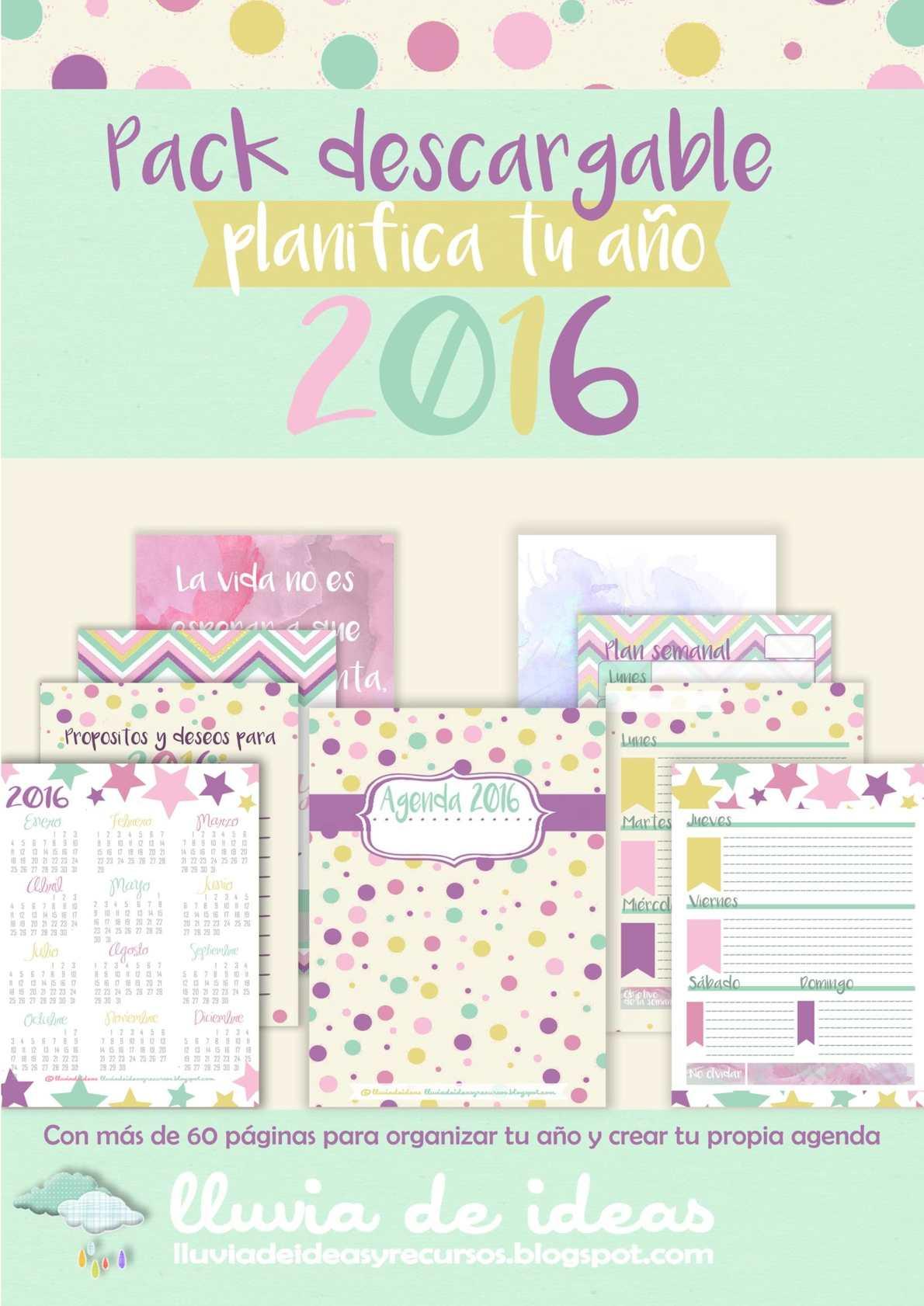 Pack Descargable planifica tu año 2016