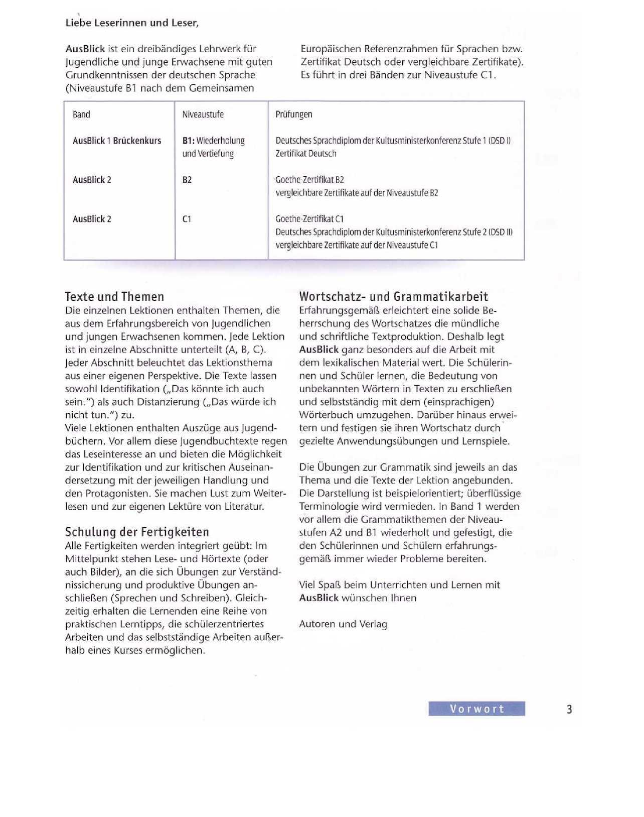 Ausblick 1 Kursbuch - CALAMEO Downloader