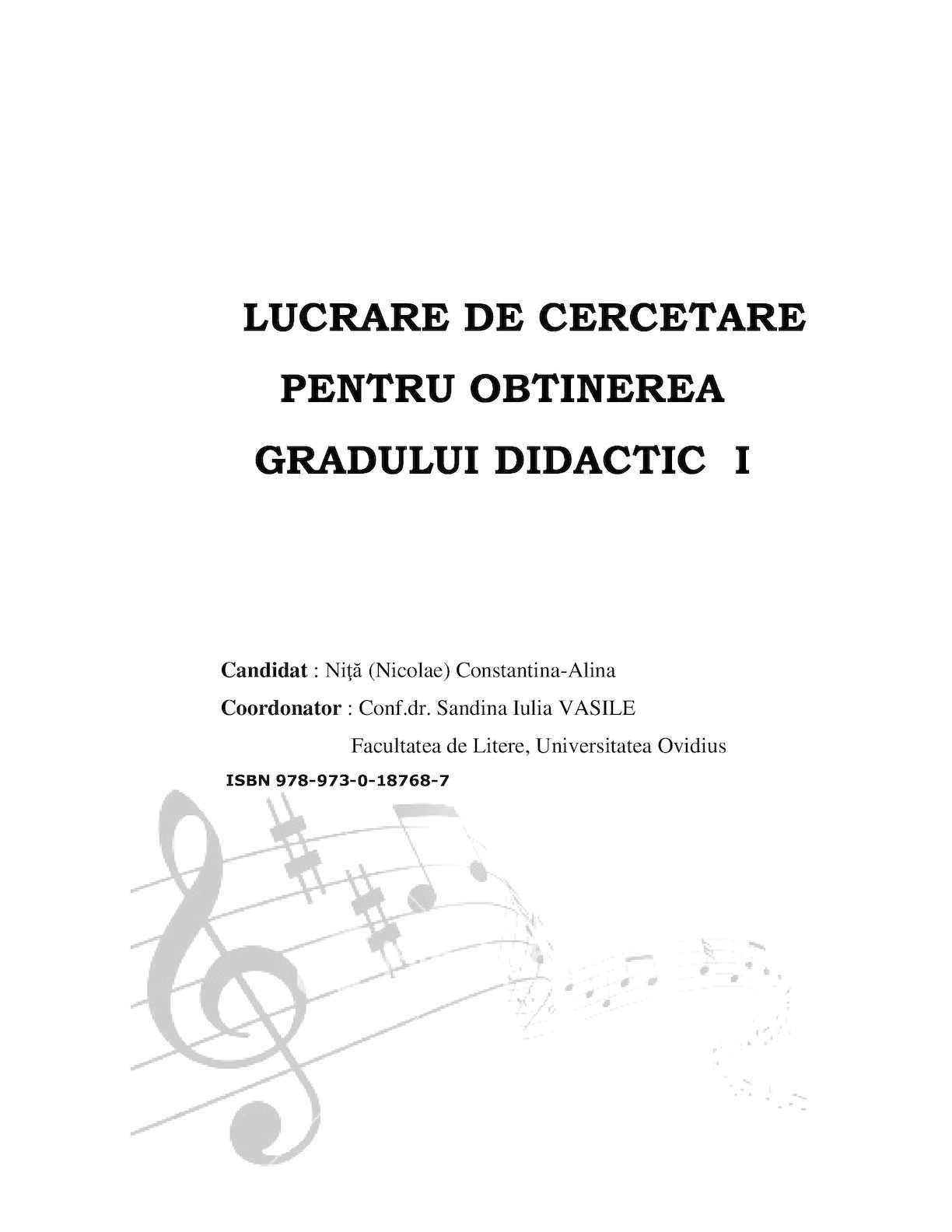 Gr I Nicolae Alina Chanson En Classe De Fle Cap Vi Et Conclusions Du Juin 2014