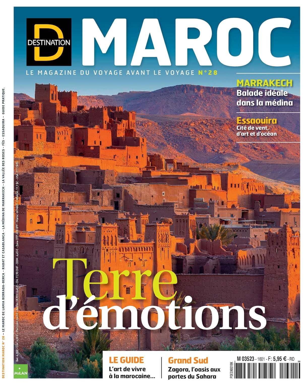 vol destination maroc