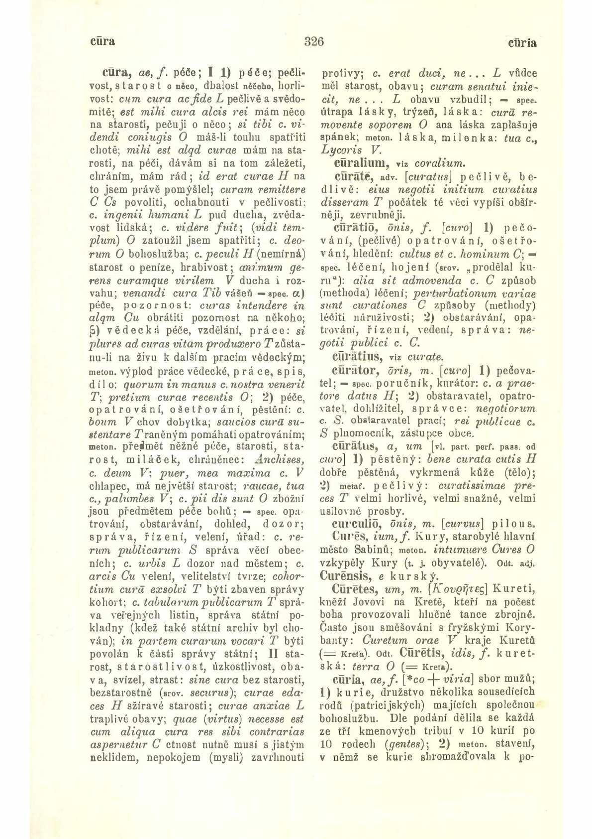 Latinsko-český slovník Cura – Infi k potřebě gymnasií a reálných gymnasií  Pražák Josef Miroslav, Novotný František, Sedláček Josef, 1939