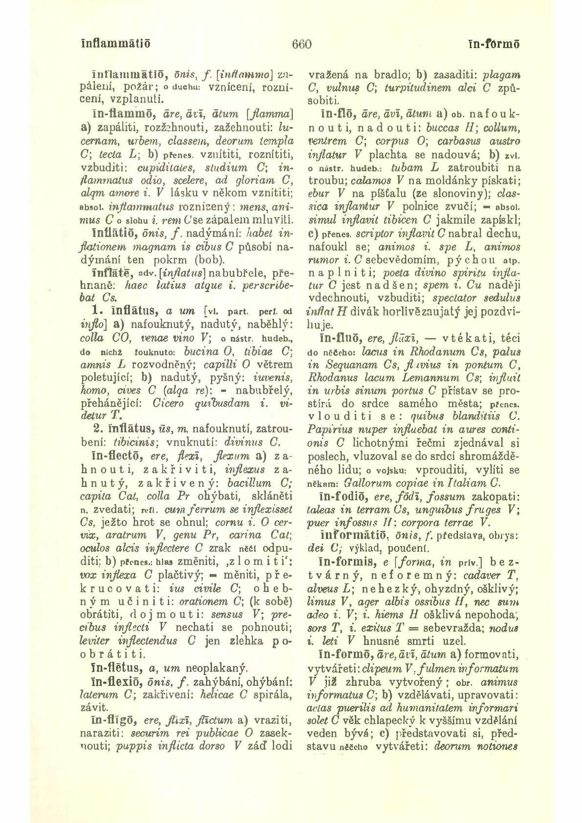 Latinsko-český slovník Infl – Proc k potřebě gymnasií a reálných gymnasií  Pražák Josef Miroslav, Novotný František, Sedláček Josef, 1939