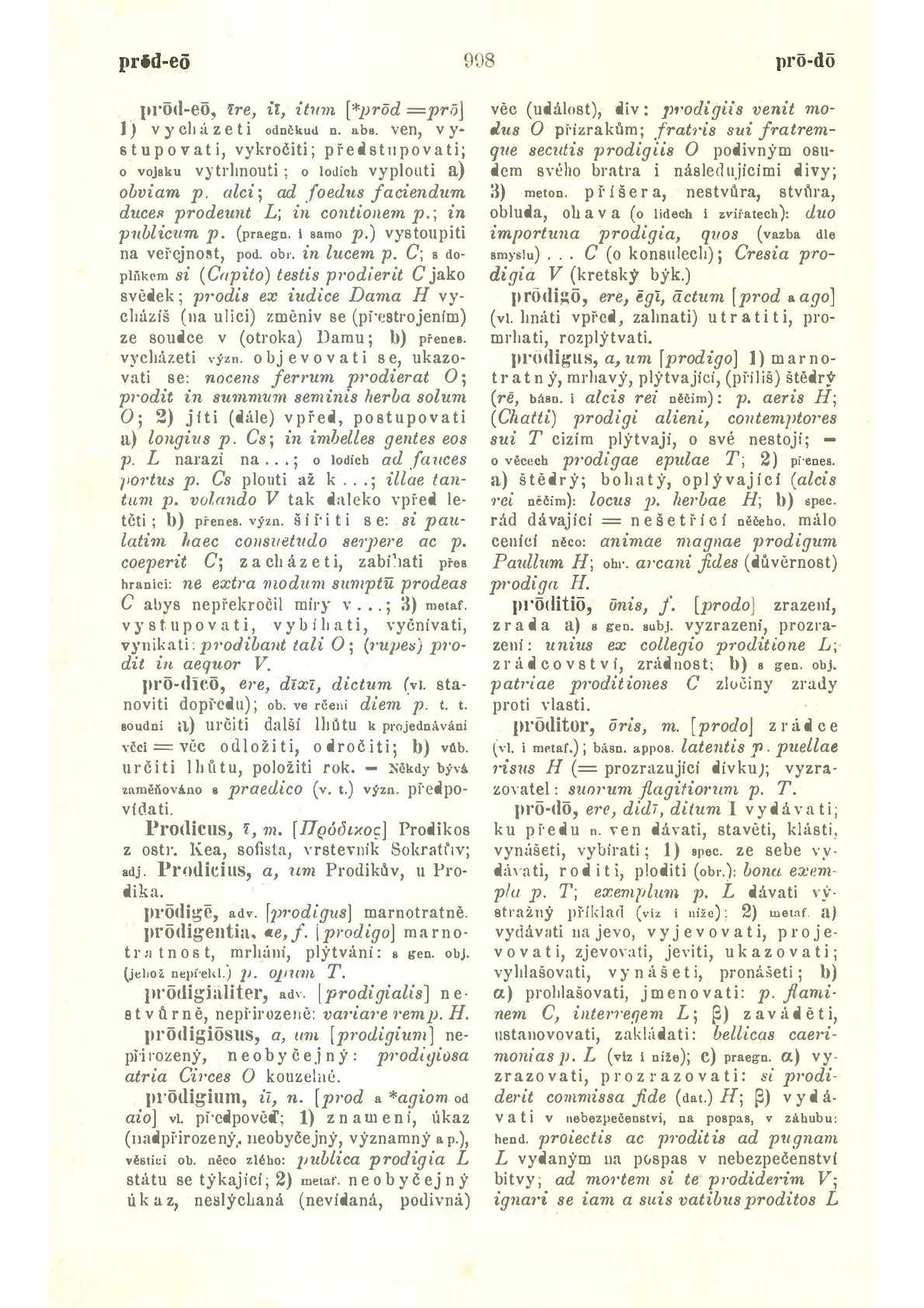 Latinsko-český slovník Prod – Z k potřebě gymnasií a reálných gymnasií  Pražák Josef Miroslav, Novotný František, Sedláček Josef, 1939