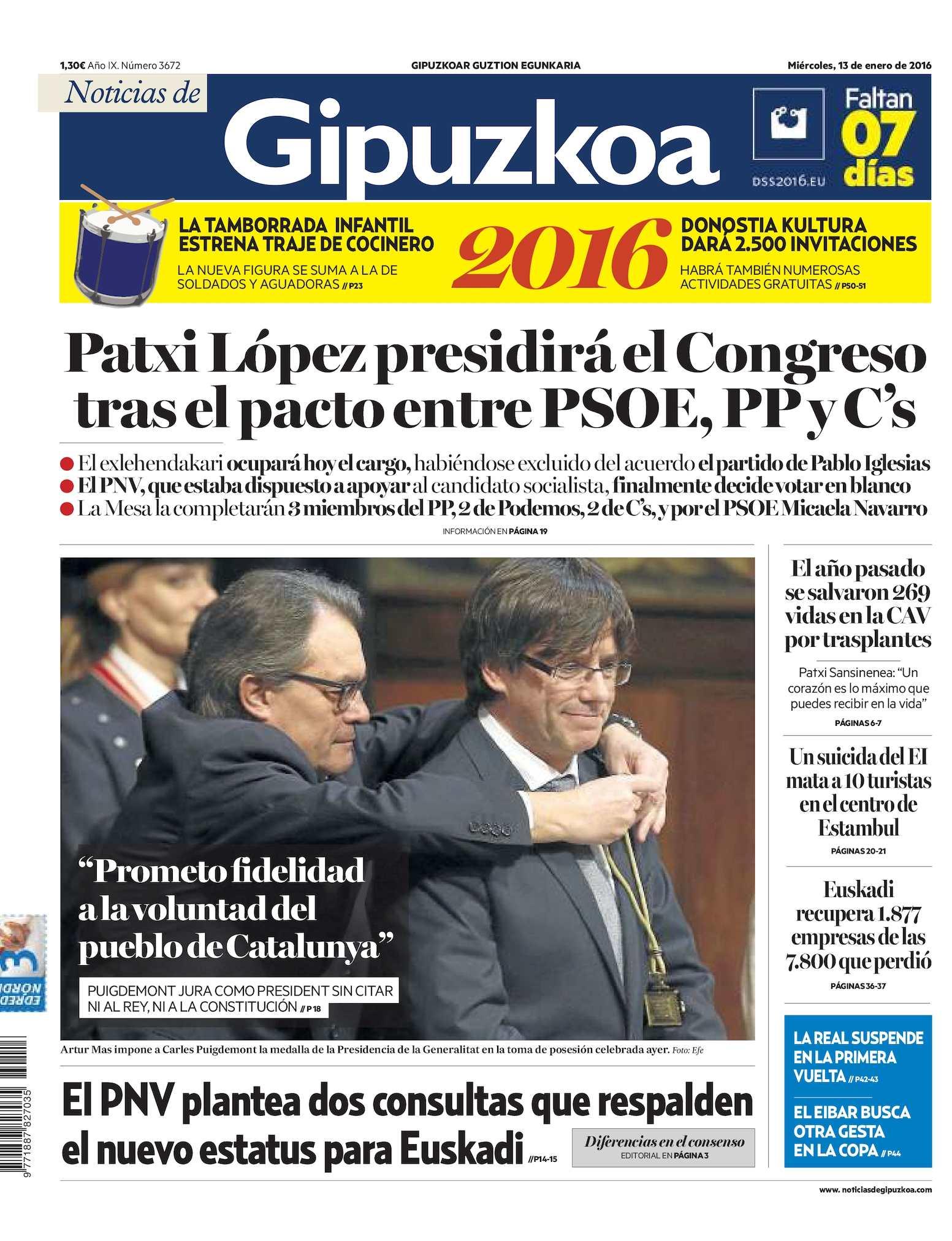 Calaméo Noticias De Gipuzkoa 20160113