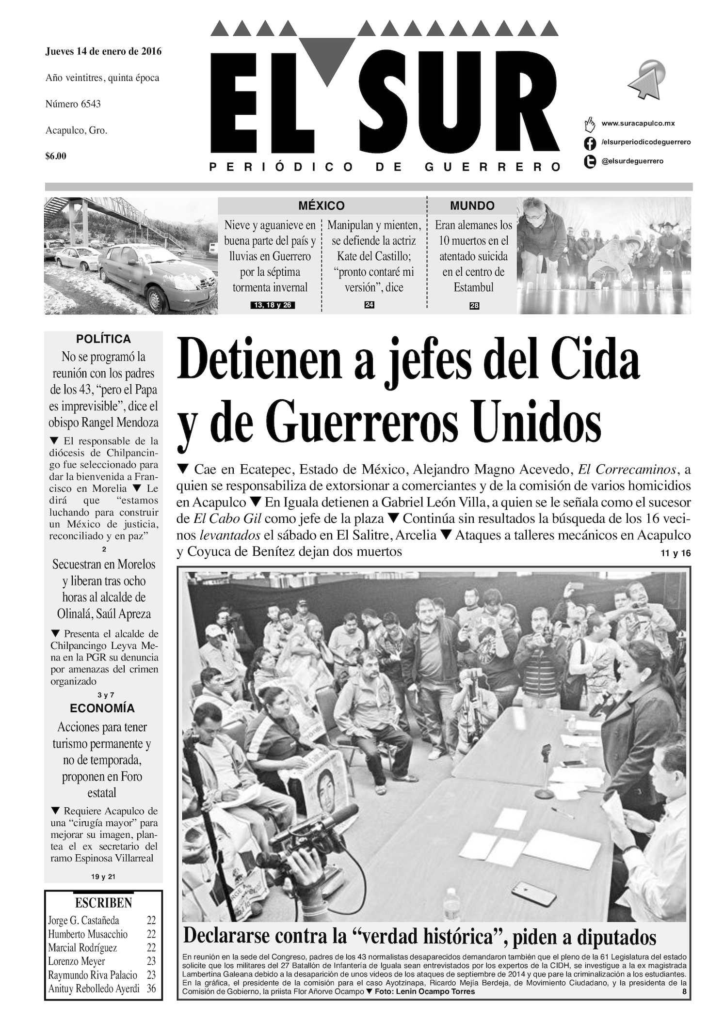 Calaméo - El Sur Jueves 14012016