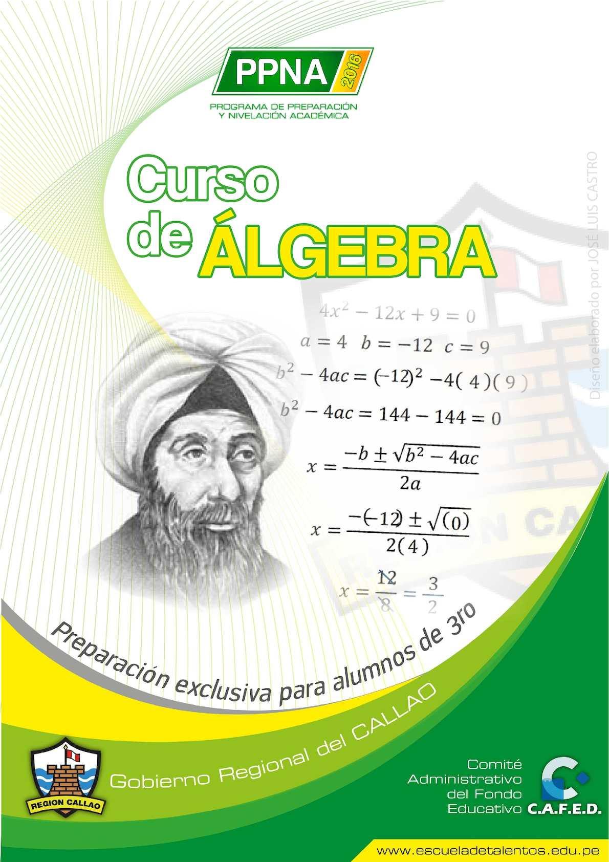 Foro N° 01 Álgebra PPNA 2016