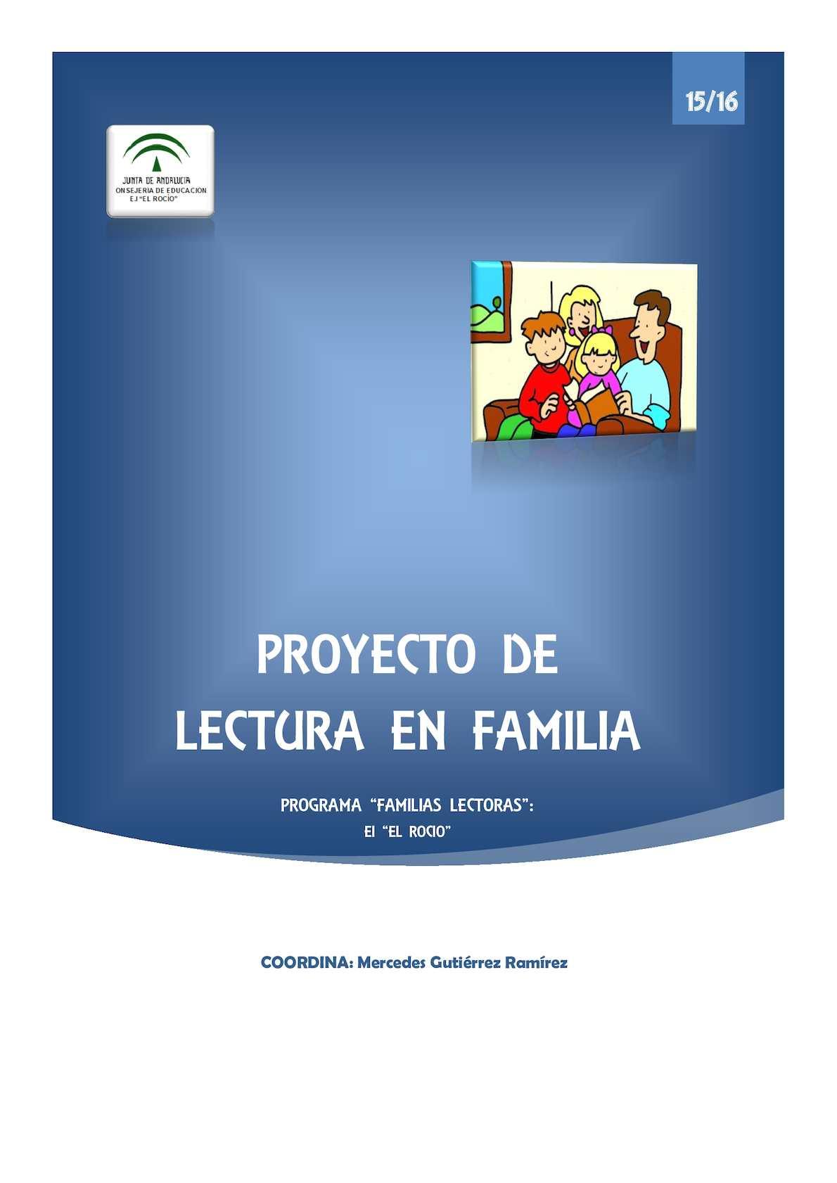 11007077 Ei El Rocio Proyecto De Lectura En Familia 15 16