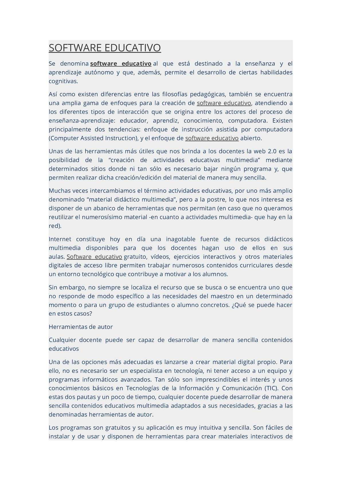 Calaméo - Software Educativo Herramientas Autor