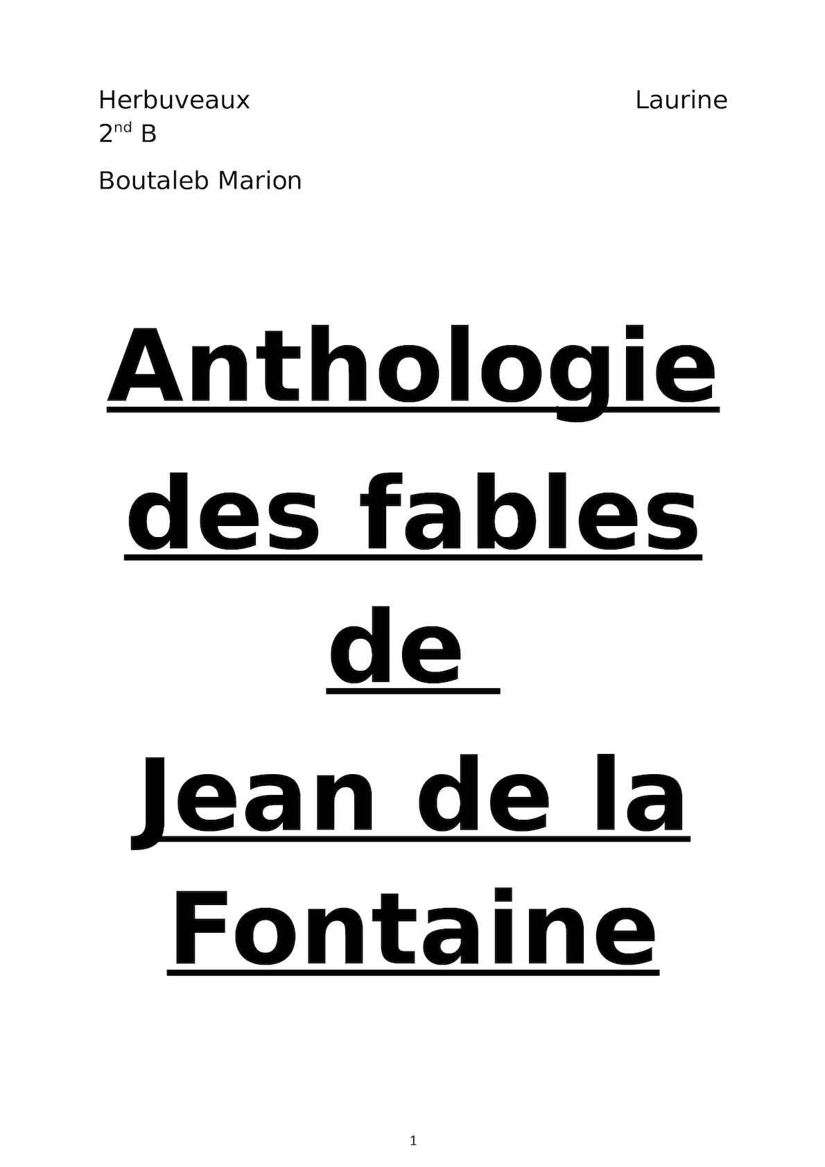 Calaméo - Anthologie des fables de la Fontaine