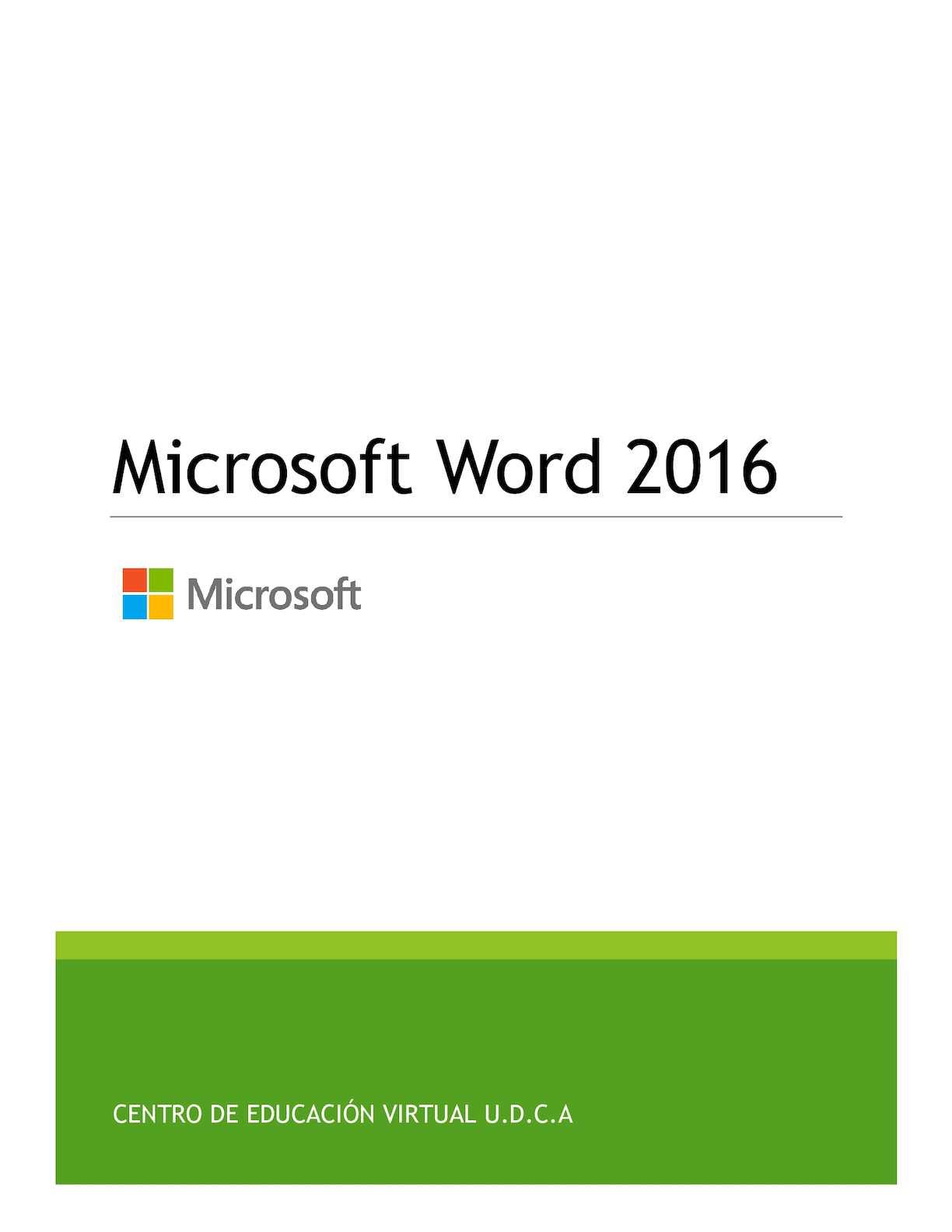 Calaméo - Word 2016