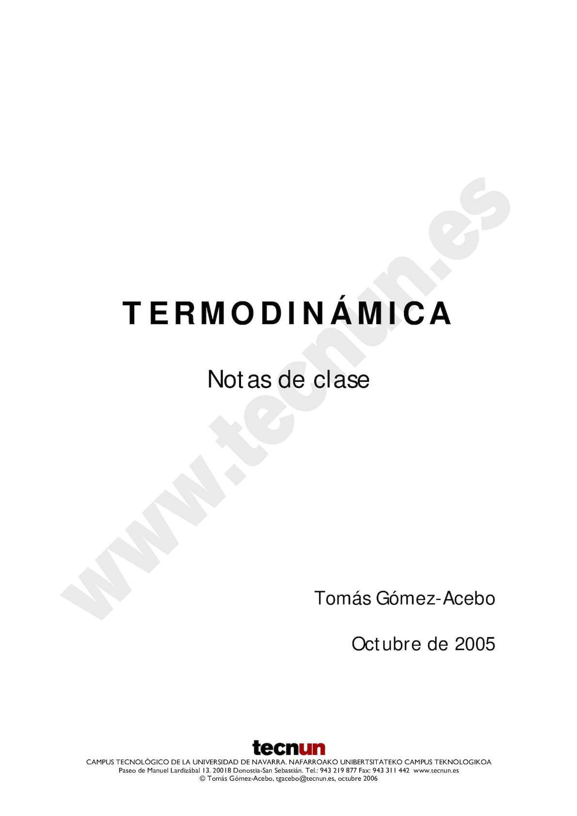 Termodinamica Univ Navarra