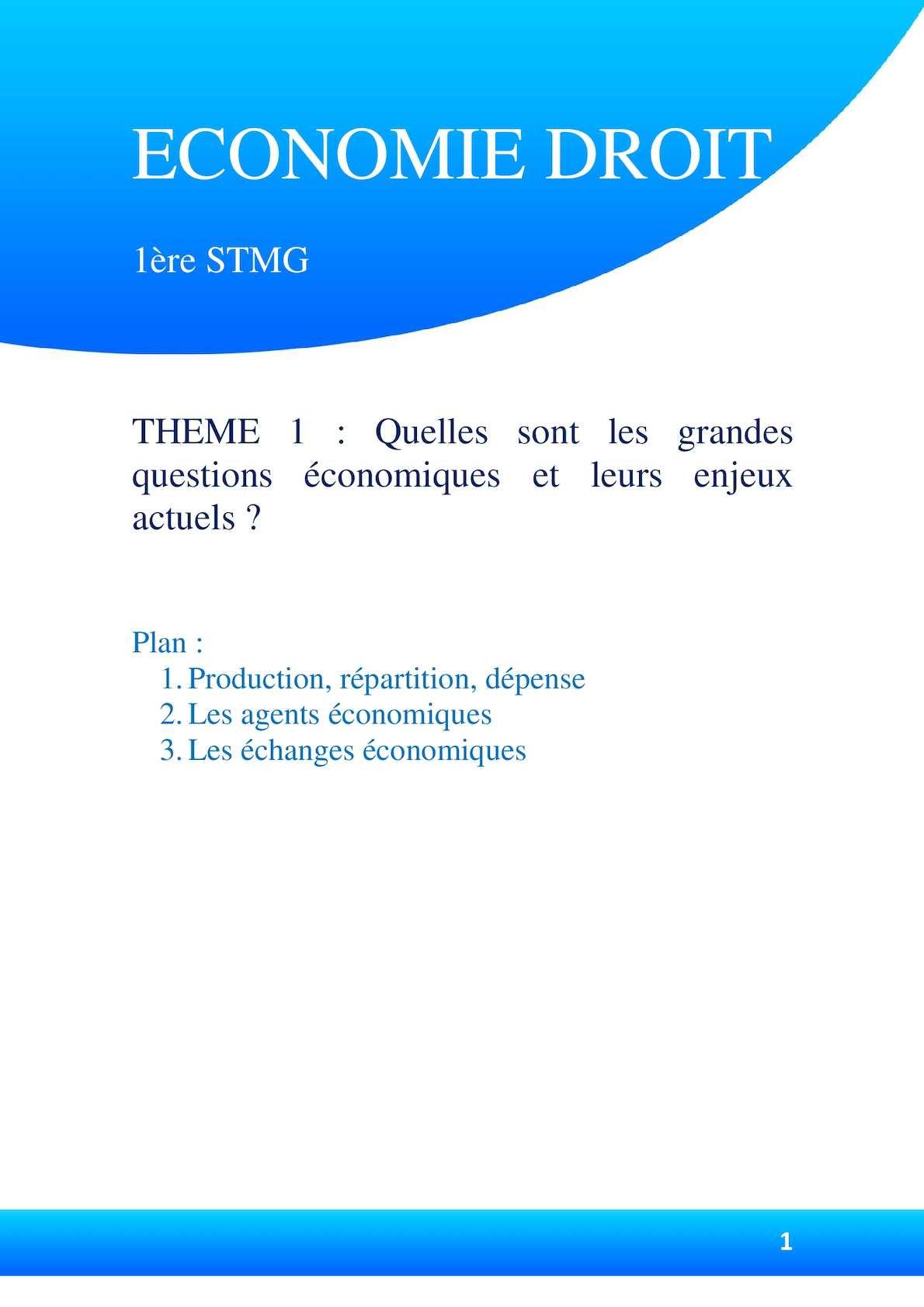 Agent économique définition stmg