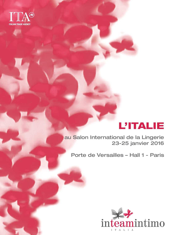 INTEAMINTIMO ITALIA 2016 - L'ITALIE au Salon International de la Lingerie 2016