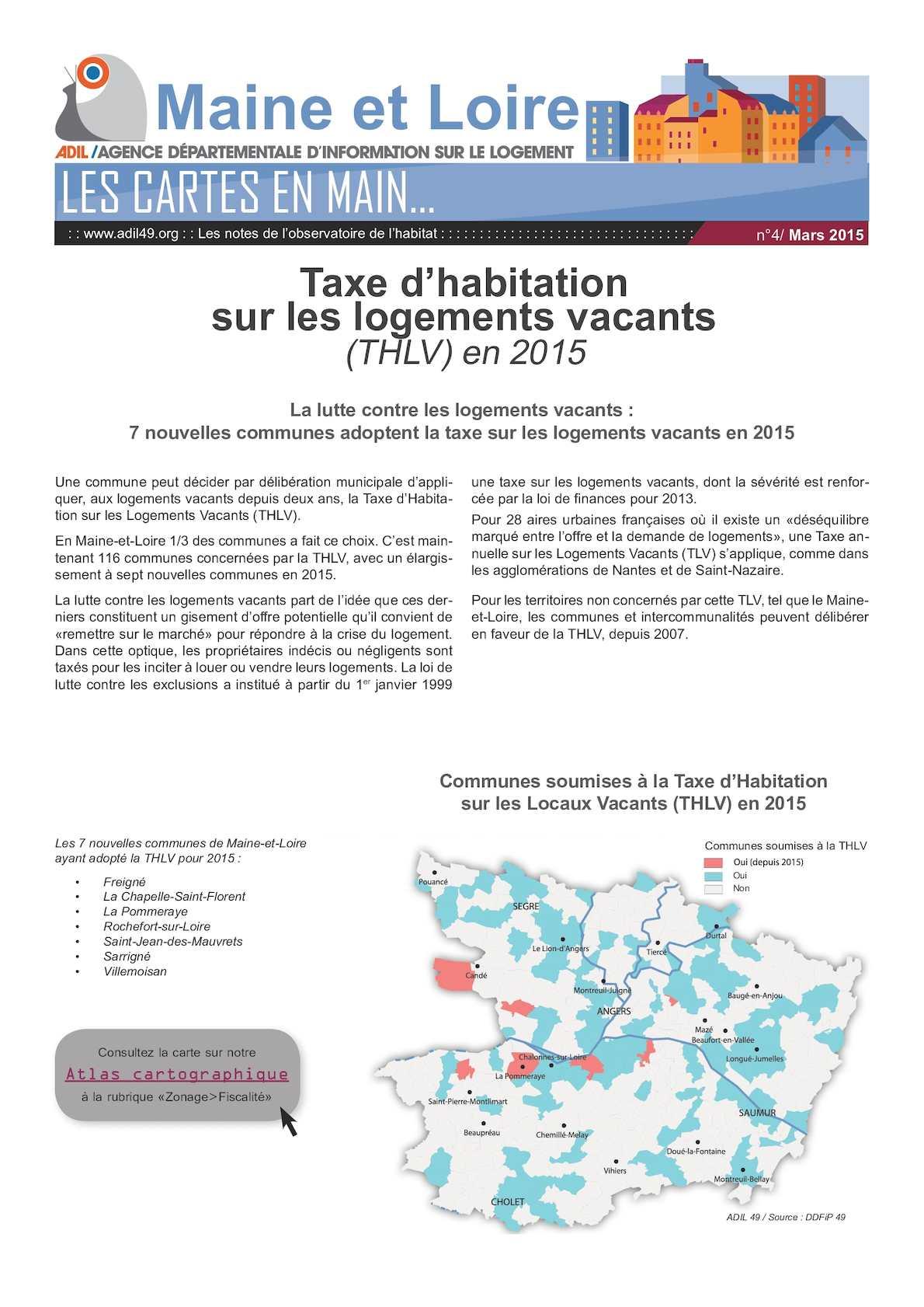 Calameo Taxe D Habitation Sur Les Logements Vacants En 2015 Adil