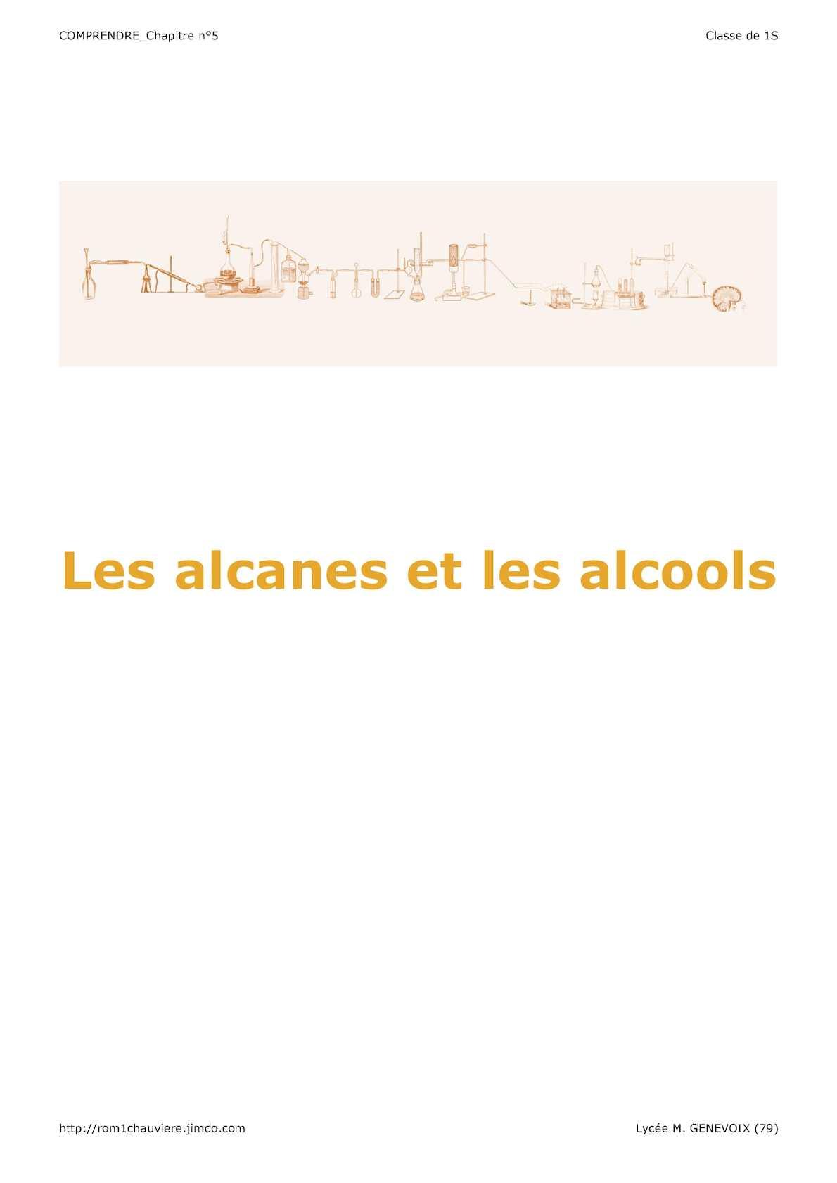 Comprendre 05 Les Alcanes Et Les Alcools