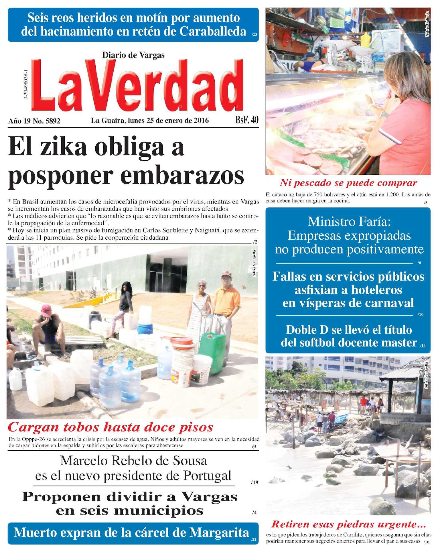 Calaméo - La Guaira, lunes 25 de enero de 2016 Año 19 No. 5892