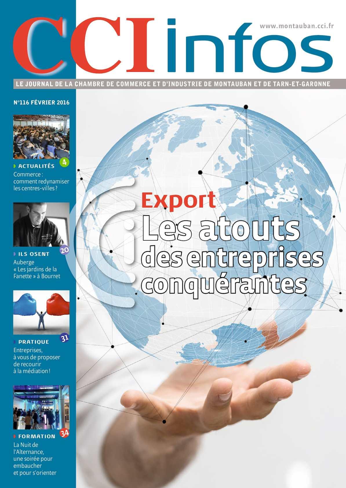 Calam o cci infos janvier 2016 for Chambre de commerce montauban