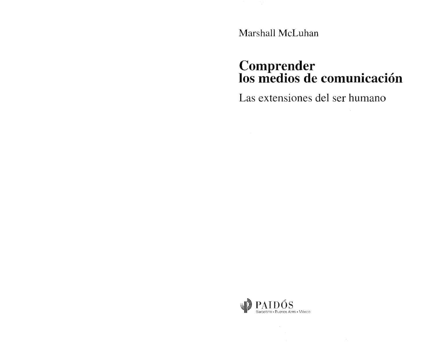 Calaméo - Mc Luhan Marshall Comprender Los Medios De Comunicacion