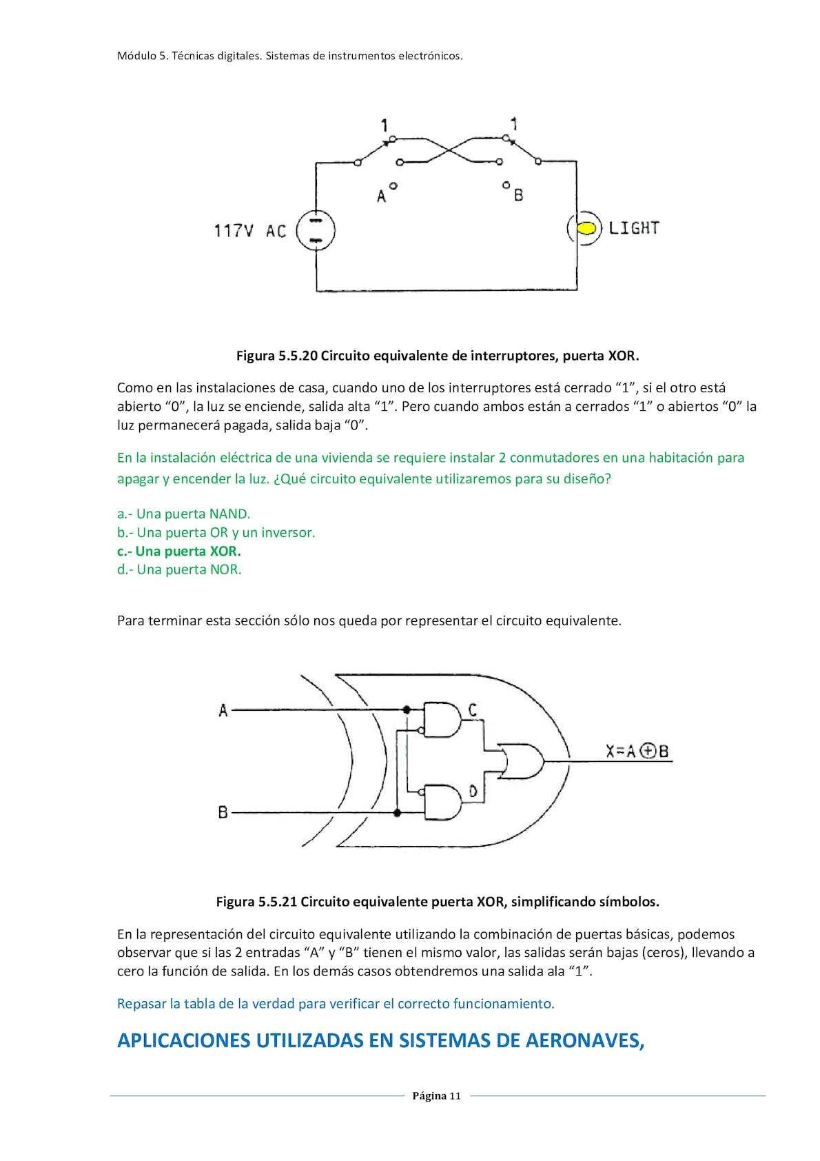 Circuito Xor Equivalente : Circuitos logicos calameo downloader