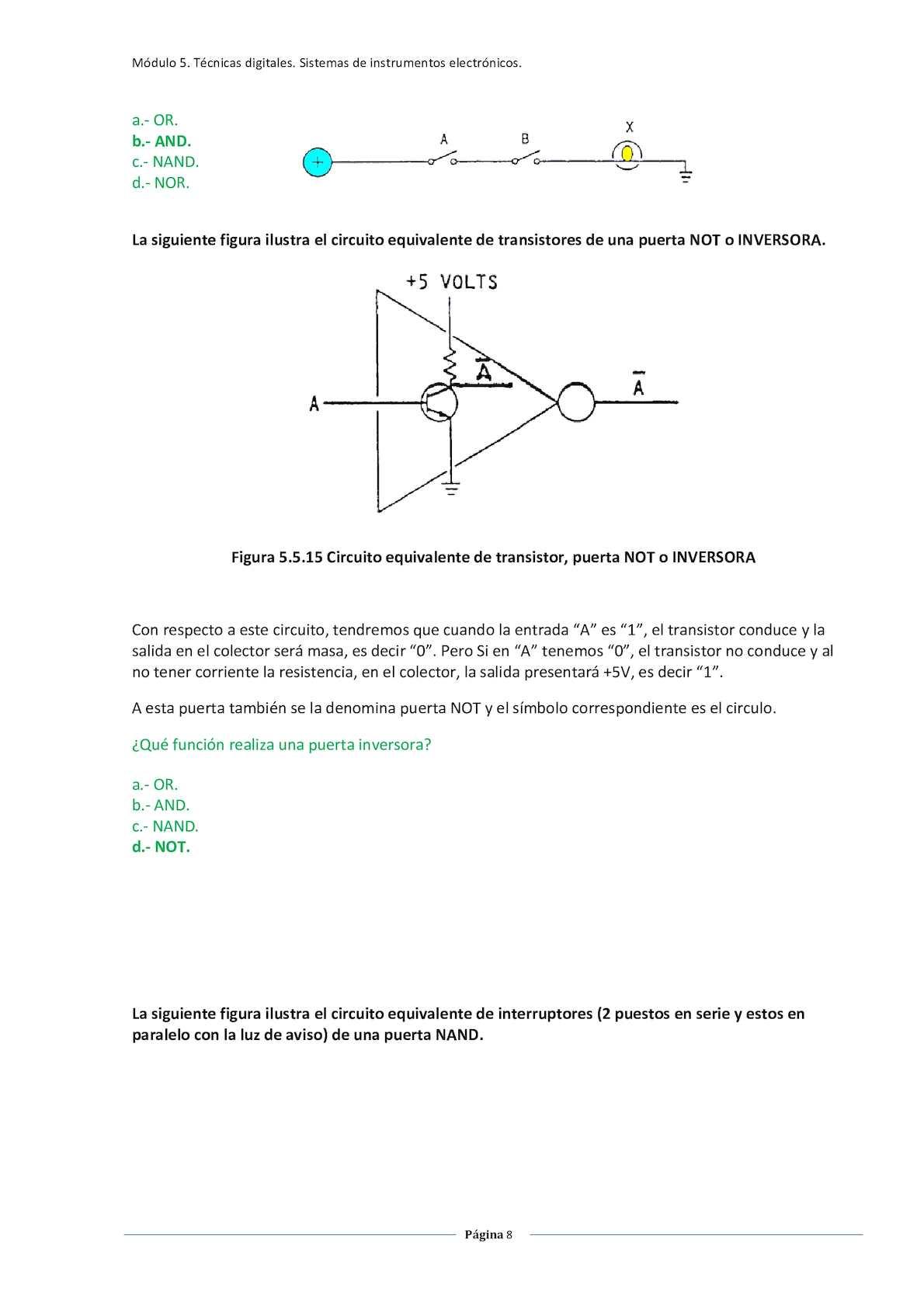 Circuito Not : Circuitos logicos calameo downloader