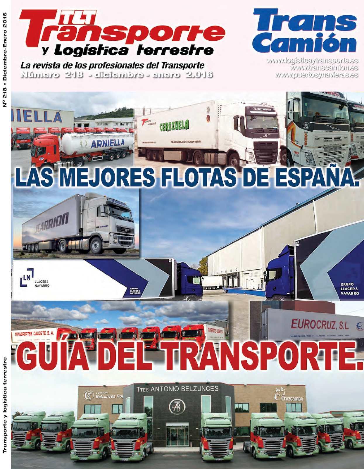 Calaméo - Revista TRANSPORTE Y LOGISTICA TRANSCAMION 218 Dic Enero ...