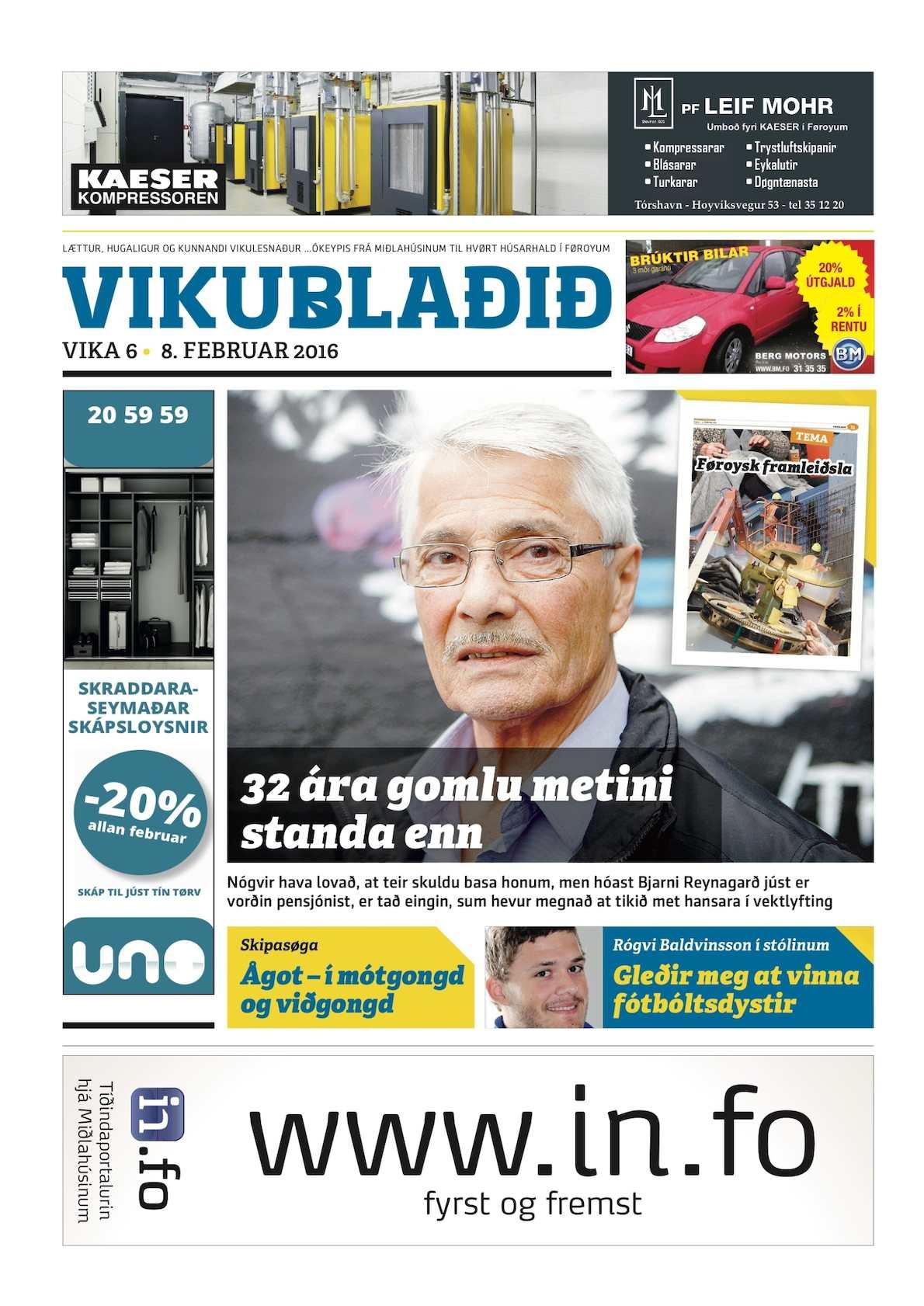 Vikublaðið 8. feb. 2016