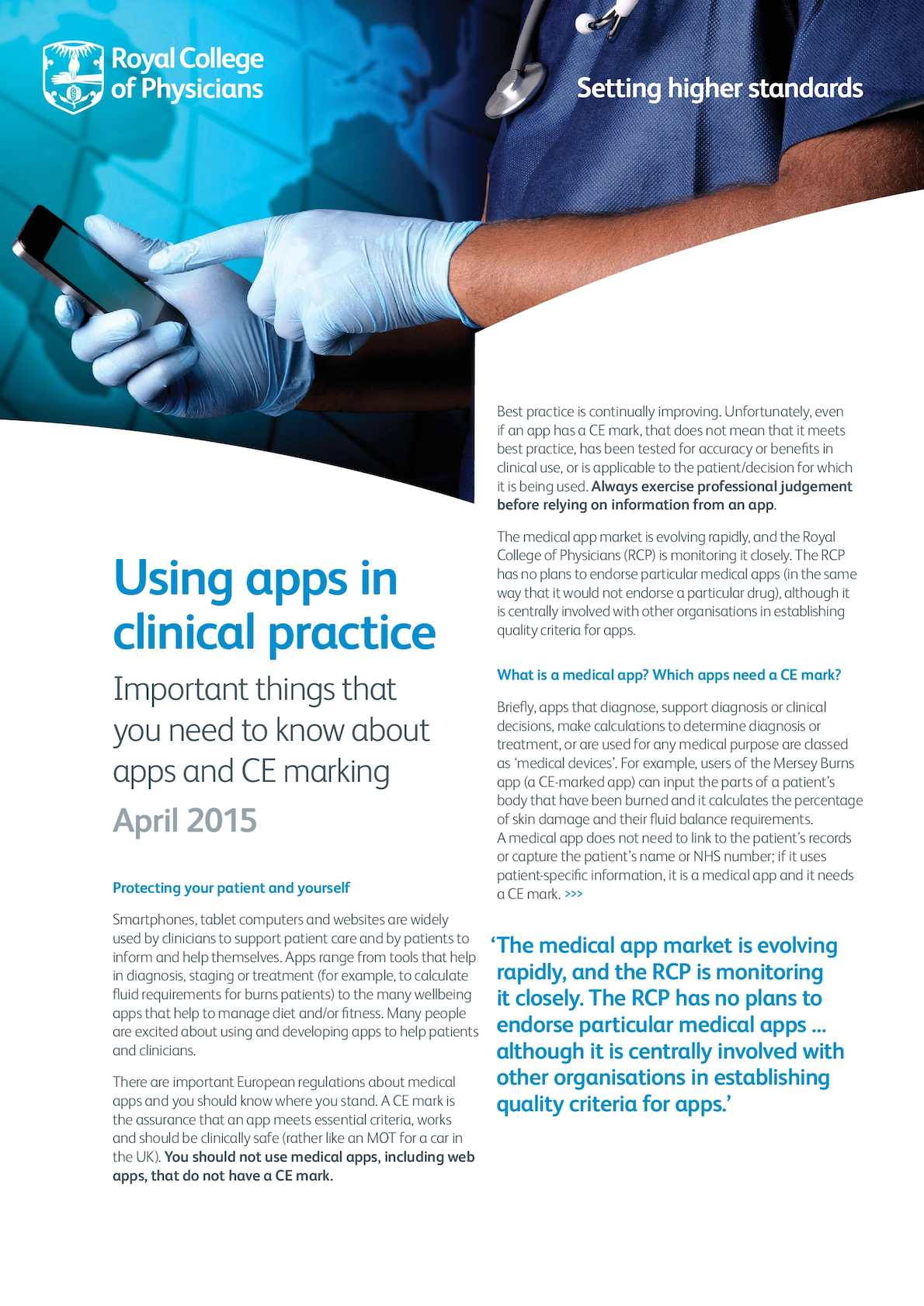Calamo Using Apps In Clinical Practice Guidance