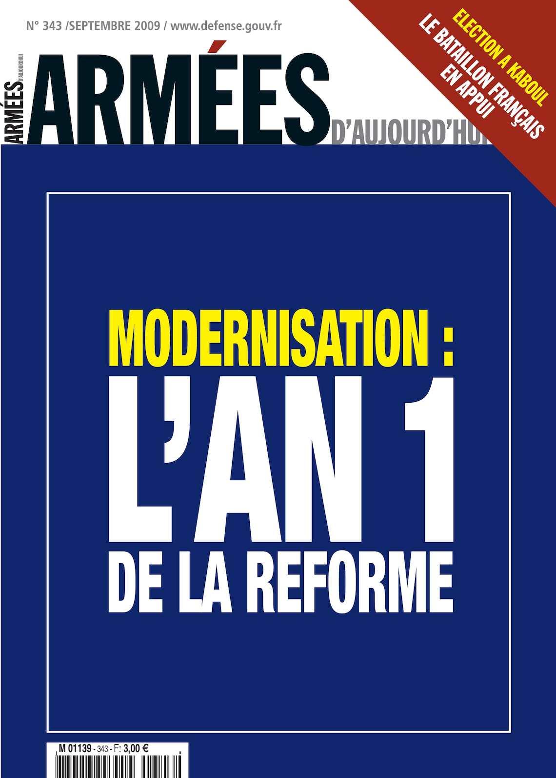 Armées d'Aujourd'hui n° 343 Septembre 2009